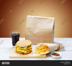 cheeseburger wrapping paper fast food brown wrapping paper image photo bigstock