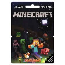 minecraft cards minecraft pc 17 95 posa card gaming gift cards uk
