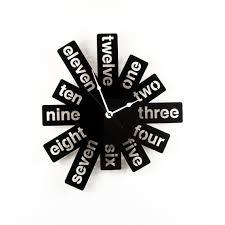 large wall clock laser cut acrylic black clock modern graphic