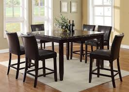 Tall Dining Room Sets Living In Style Harvard 7 Piece Counter Height Dining Set