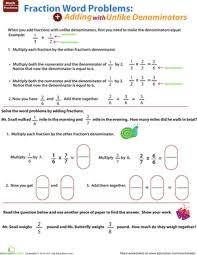 fraction word problems education com