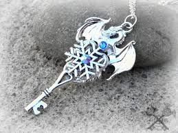 dragon key necklace images Ice dragon skeleton key necklace by artbystarlamoore jpg