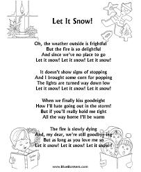 printable lyrics bluebonkers let it snow free printable christmas carol lyrics