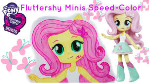 mlp equestria girls minis fluttershy doll speed color draw