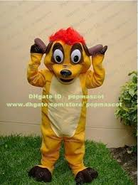 Lion King Halloween Costume Cool Yellow Timon Pumbaa Lion King Mascot Costume Red