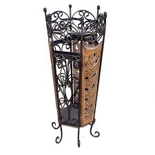 buy chilifry decorative wooden u0026 wrought iron umbrella stand