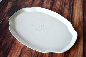 engraved platter wedding gift parent wedding gift personalized platter with initlal and wedding da