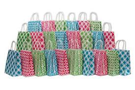 assorted bright color kraft paper gift bags medium