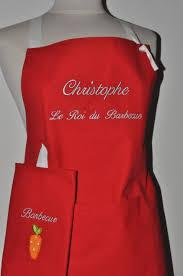 cadeau cuisine femme box cadeau tablier de cuisine homme ou femme personnalisé brodé au