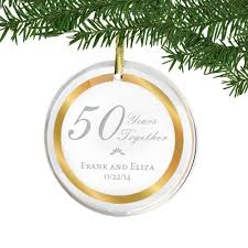anniversary ornament 50th wedding anniversary acrylic ornament with gold