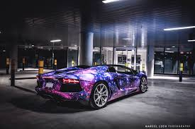 blue galaxy lamborghini canadian lamborghini aventador roadster is wildest yet autoevolution