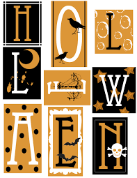 Halloween Printable Letters U2013 Festival Collections