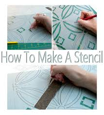 Kitchen Stencils Designs by Salvaged Inspirations How To Make A Stencil No Costly Gadgets