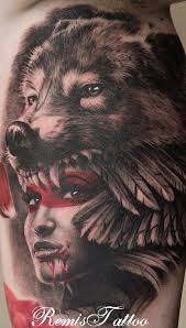Wolf Indian Tattoos - 25 designs headdress
