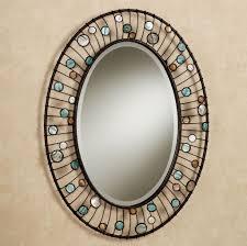 bathroom white ceramic framed oval bathroom mirror oval