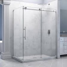 bathroom glass enclosure dreamline shower door decor with marble