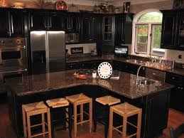 Black Cabinets Kitchen Distressed Black Kitchen Cabinets Countyrmp
