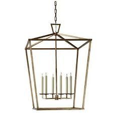 Visual Comfort Lights Extra Large Visual Comfort Darlana Lantern With Gilded Iron Finish