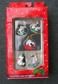 coke polar penguin seal coca cola ornaments bulk set of 3