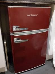 under cabinet fridge and freezer montpellier under counter retro fridge freezer red in chester