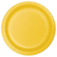 24ct school yellow disposable plates target