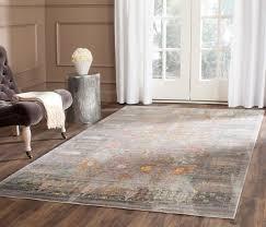 grey floral design area rug safavieh transitional rugs