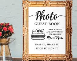 5x7 Photo Book Photo Guest Book Snap It Shake It Stick It Sign It