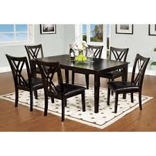 furniture of america cm3460t 7pk springhill dining set the mine