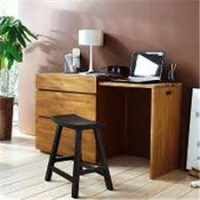 commode bureau escamotable acacia massif abouté kewan