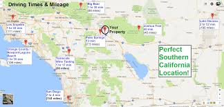 Map Southern California Morongo Basin Area Attractions Things To Do Joshua Tree Maps