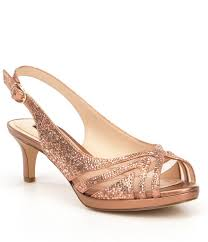 wedding shoes dillards alex maddeli shimmer hotfix detail peep toe pumps dillards