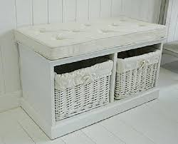 Wicker Storage Bench Nice Bathroom Bench Seat With Storage Rattan Bathroom Storage