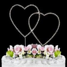 cake topper monogram and rhinestone banding and ribbon monogram cake toppers