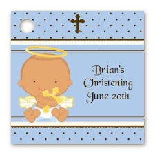 baptism favor tags baptism christening favor tags angel baby boy hispanic favor tags