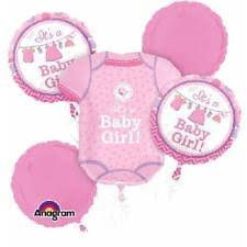 welcome home baby shower anagram it s a baby girl foil balloon bouquet 5 balloons ebay