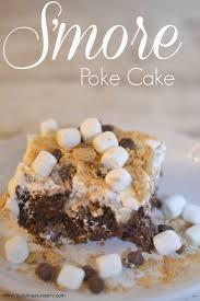 trumoo chocolate marshmallow s u0027more poke cake recipe chocolate