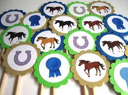 Kentucky Derby Decorations Horse Kentucky Derby Cupcake Toppers Adorebynat Online Store