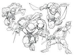 ninja turtle coloring free printable teenage mutant turtles