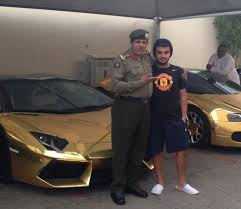 golden fast cars saudi playboy bin abdullah and his fleet of golden cars has taken