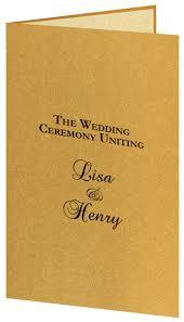 wedding program paper kits metallic wedding program kits lci paper