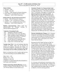 Church Administrator Church Bulletin June 25 2017 St Florence Catholic Church