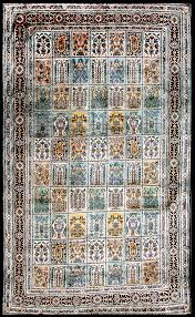 5 By 5 Rug 5 By 3 Pure Silk Rug Sapphire Blue Qum From India