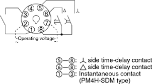 pm4h sd sdm star delta timers wiring connection automation