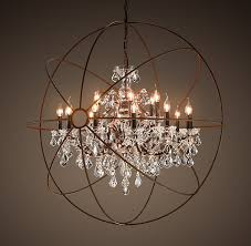 Sphere Chandelier With Crystals Chandelier Interesting Orb Chandelier With Crystals Ideas Orb