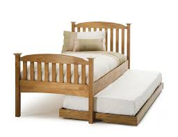 high foot end 3ft single honey oak wooden bed frame guest bed