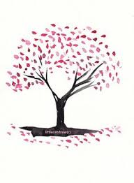 drawn cherry blossom nice tree pencil and in color drawn cherry