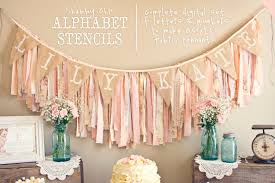 instant download printable alphabet stencils for fabric banner