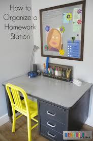 Kids Homework Desk How To Organize A Homework Station For Kids Oct 29 2015 11 34 Am Jpg