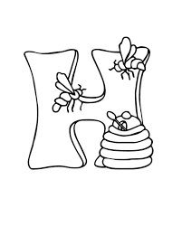 big h letter for honey coloring page coloring sky