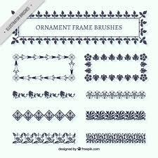 ornament frame brushes vector free